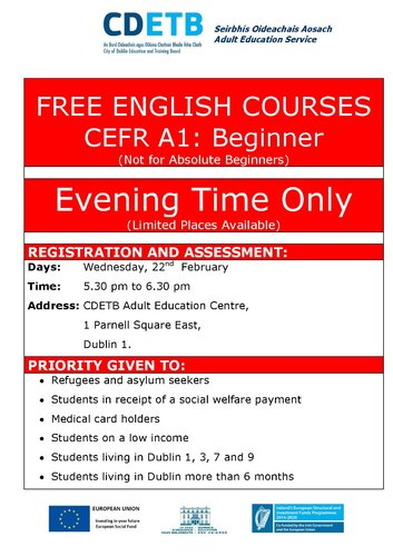 FREE ENGLISH COURSES FOR BEGINNERS