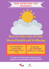 V2 Mental health workshop - NCP Cork - 19 June 2019 - Purple